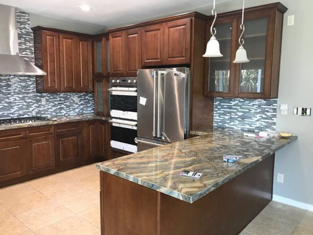 Brown Kitchen remodeling
